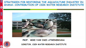Download Presentation- Strategies for Restoring Aquaculture Industry in Ghana